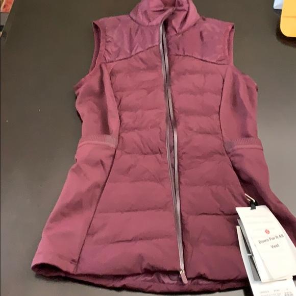lululemon athletica Jackets & Blazers - NWT lululemon down for it all vest size 2